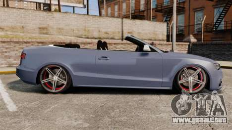 Audi S5 Convertible 2012 para GTA 4 left