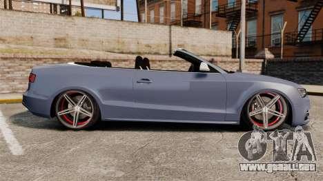 Audi S5 Convertible 2012 para GTA 4 left