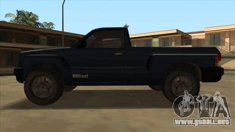 Bobcat HD from GTA 3 para GTA San Andreas vista posterior izquierda