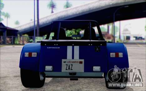 Caterham R500 Superlight 2008 para la visión correcta GTA San Andreas
