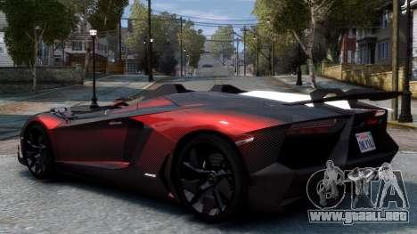 Lamborghini Aventador J 2012 Carbon para GTA 4 visión correcta