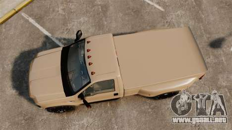Ford F-350 Pitbull para GTA 4 visión correcta