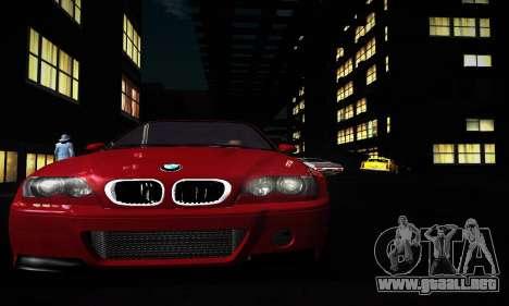 BMW E46 M3 CSL para GTA San Andreas left