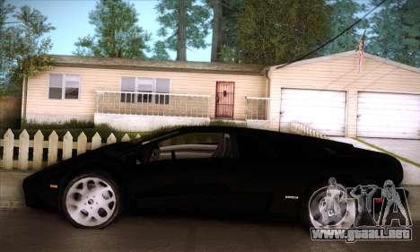 Lamborghini Diablo VT6.0 para vista inferior GTA San Andreas