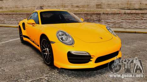 Porsche 911 Turbo 2014 [EPM] Turbo Side Stripes para GTA 4