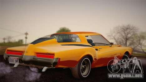 Buick Riviera 1972 Carbine Version para GTA San Andreas left