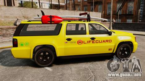 GTA V Declasse Granger 3500LX Lifeguard para GTA 4 left