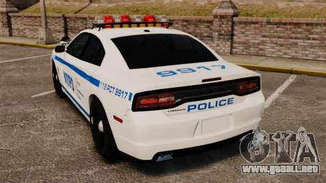 Dodge Charger 2012 NYPD [ELS] para GTA 4 Vista posterior izquierda