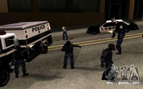 SWAT de Manhunt 2 para GTA San Andreas segunda pantalla