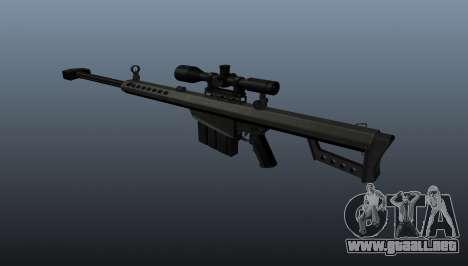 Rifle de francotirador Barrett M82A1 para GTA 4 segundos de pantalla