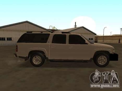 Chevrolet Suburban ATTF para GTA San Andreas vista hacia atrás
