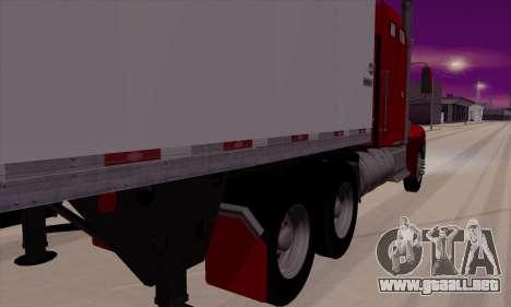 International 9400i Flattop para GTA San Andreas vista posterior izquierda