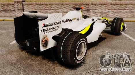 Brawn BGP 001 2009 para GTA 4 Vista posterior izquierda