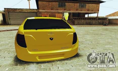 Lada Granta Hatchback para GTA San Andreas vista posterior izquierda