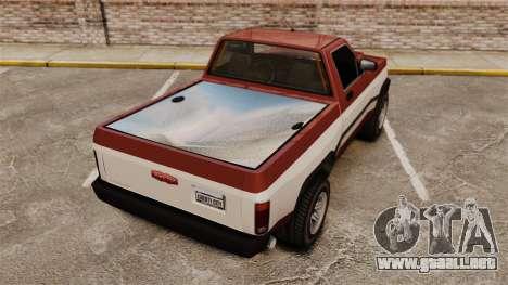 Declasse Rancher 1998 v2.0 para GTA 4 Vista posterior izquierda