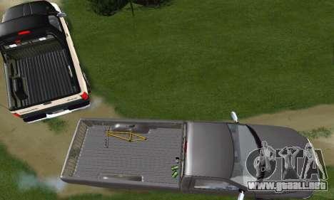 Dodge Ram 2500 para visión interna GTA San Andreas
