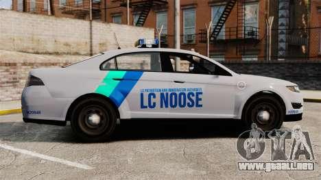 GTA V Vapid Police Stanier Interceptor [ELS] para GTA 4 left