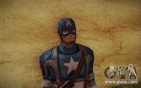 Captain America: First Avenger para GTA San Andreas tercera pantalla