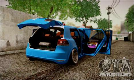 Volkswagen mk6 Stance Work para la visión correcta GTA San Andreas