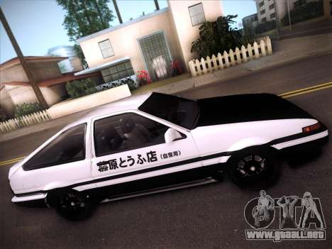 Toyota Trueno AE86 Initial D 4th Stage para visión interna GTA San Andreas