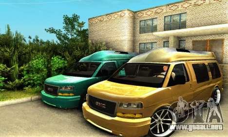 GMC Savana para visión interna GTA San Andreas