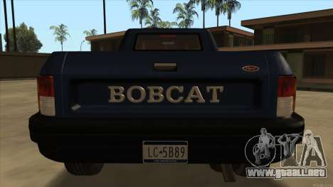Bobcat HD from GTA 3 para la visión correcta GTA San Andreas