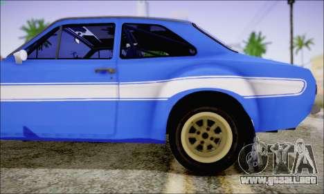 Ford Escort Mk1 RS1600 para GTA San Andreas vista hacia atrás