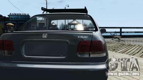 Honda Civic 1.6i ES para GTA 4 visión correcta