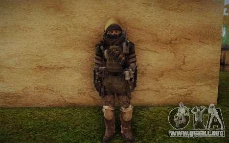 COD MW3 Heavy Commando para GTA San Andreas sucesivamente de pantalla