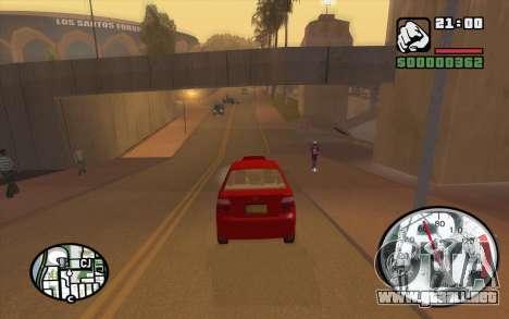 Speedometr da Rockstar para GTA San Andreas sucesivamente de pantalla