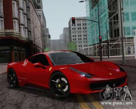 Ferrari 458 Italia 2010 para las ruedas de GTA San Andreas