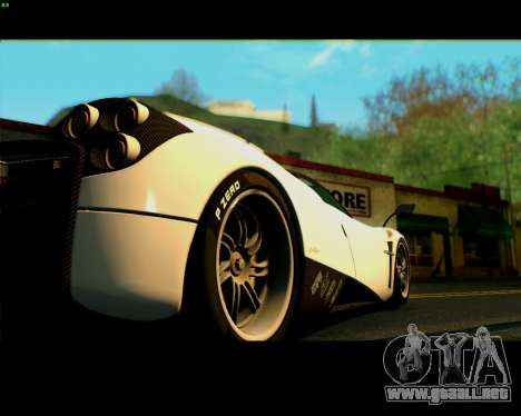 Pagani Huayra 2013 para la visión correcta GTA San Andreas