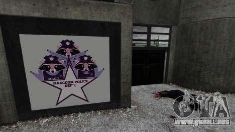 Estación de policía, mapache para GTA 4 segundos de pantalla