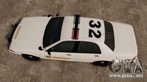 GTA V Police Vapid Cruiser Sheriff para GTA 4 visión correcta
