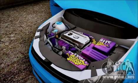 Volkswagen mk6 Stance Work para GTA San Andreas vista hacia atrás