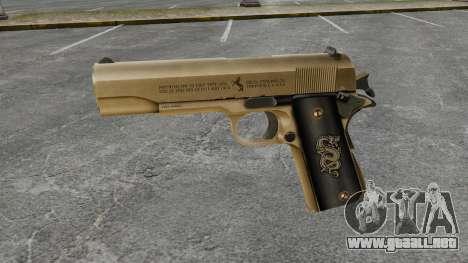V2 pistola Colt M1911 para GTA 4 tercera pantalla