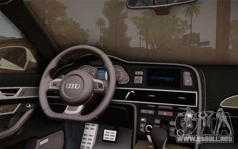 Audi RS6 Police para la visión correcta GTA San Andreas