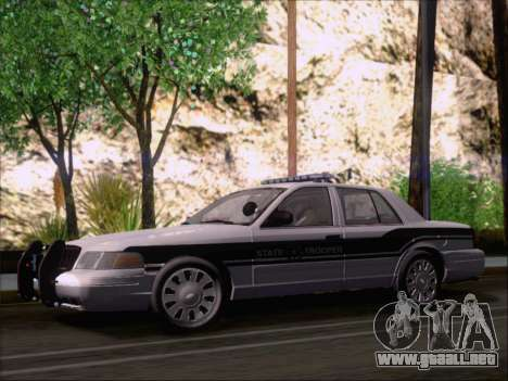 Ford Crown Victoria San Andreas State Trooper para visión interna GTA San Andreas