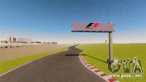 Mini circuito Spa-Francorchamps para GTA 4 adelante de pantalla