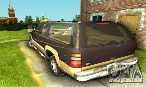 GMC Yukon XL 2003 para GTA San Andreas vista posterior izquierda