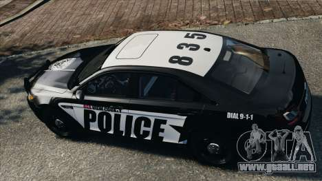 Ford Taurus Police Interceptor 2010 para GTA 4 visión correcta