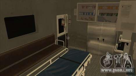 Ambulance HD from GTA 3 para visión interna GTA San Andreas