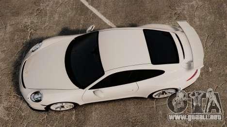 Porsche 911 GT3 (991) 2013 para GTA 4 visión correcta