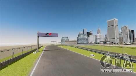 Mini circuito Spa-Francorchamps para GTA 4 octavo de pantalla