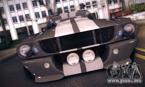 Shelby GT500 E v2.0 para GTA San Andreas vista posterior izquierda