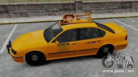 Real publicidad en taxis y autobuses para GTA 4 octavo de pantalla