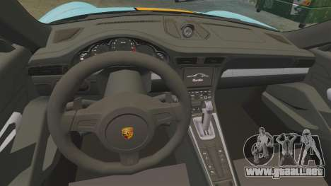 Porsche 911 Turbo 2014 [EPM] Gulf para GTA 4 vista hacia atrás