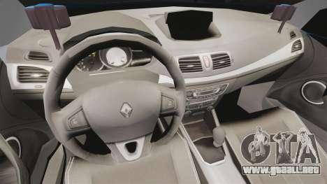 Renault Megane RS Gendarmerie Nationale [ELS] para GTA 4 vista hacia atrás