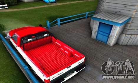 Dodge Ram 2500 para GTA San Andreas vista posterior izquierda