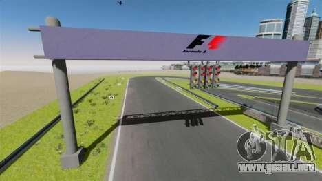 Mini circuito Spa-Francorchamps para GTA 4 tercera pantalla